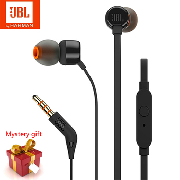 Original JBL T110 In-Ear Wired Headphones Music Deep Bass Earbuds Sport Running Earphones Headset With Mic Support IOS/Android