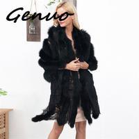 Genuo New Faux Fur Cape Lace Splice Fur Scarf Sexy Lady Imitation Mink Fur Fox Fur Collar Poncho Cape Bridal Wedding Dress Shawl
