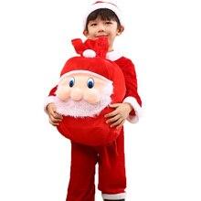 Christmas Costume Boys Girls Santa Claus Red Dress