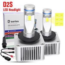 цена на 1pair 70W D1S D2S D3S D4S Car LED Headlight Bulbs 11000LM 6500K White IP65 Waterproof Auto Front Headlamp Fog Lights DC 8-48V