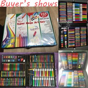 Image 5 - مجموعة أقلام تلوين فنية للرسم مكونة من 168 قطعة أقلام تلوين ألوان مائية للأطفال والطلاب هدايا أعياد الميلاد للأطفال