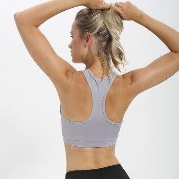 Women's Mesh Sports Bra Padded Running Yoga 1