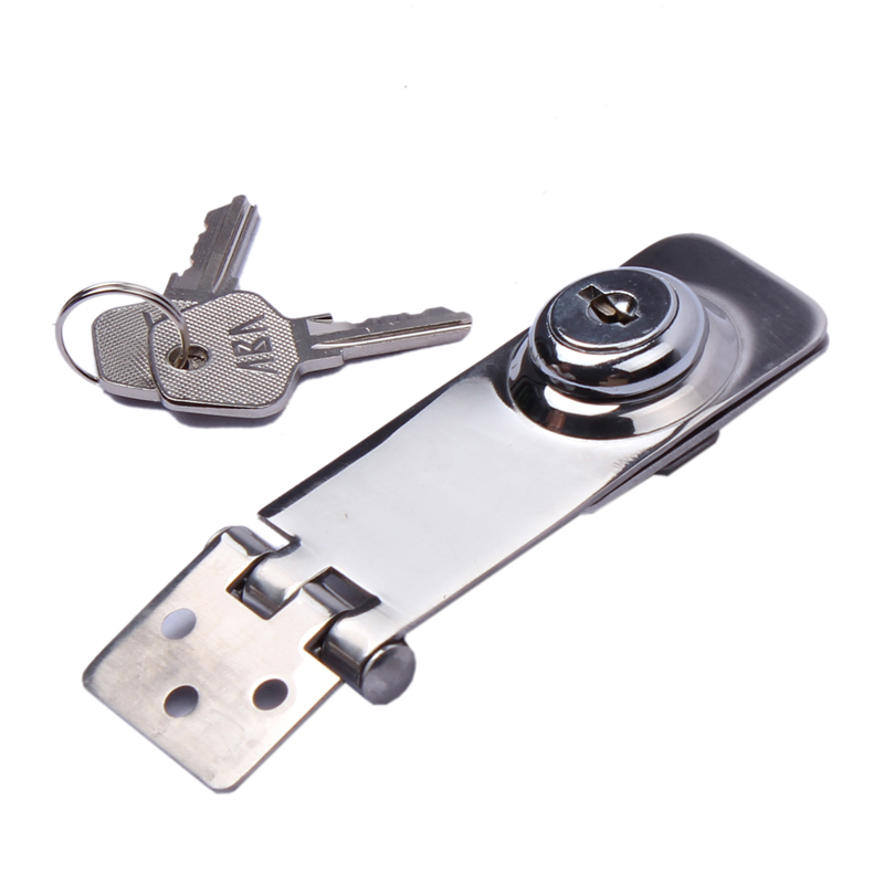 "2PCS 304 Stainless Steel Marine Grade Key Locking Hasp 1-1//8/'/' x 3/"" Boat Marine"