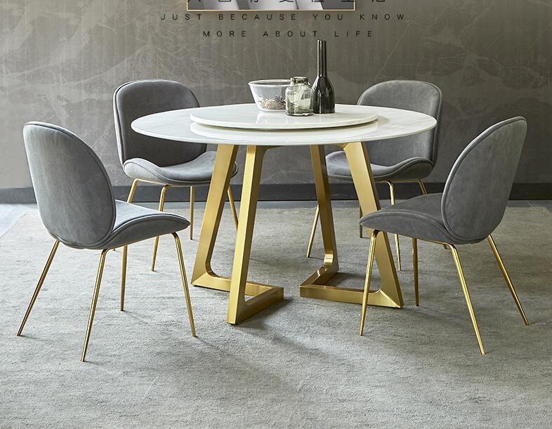 Nordic Table And Chair Combination Of Modern Contracted Marble