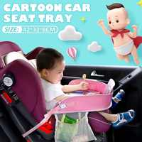 Waterproof Home Table Car Seat Tray Kids In-Car Drinks Holders Storage Kids Toys Infant Children Dining Drink Table Baby Fence