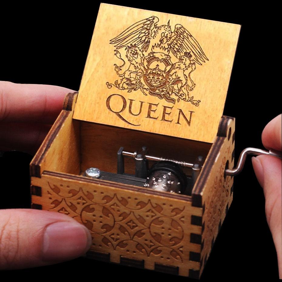 Горячая королева Рука коленчатого дерева Музыкальная шкатулка с днем рождения Звездные войны игра трона Крестный отец Рождество подарок на год - Цвет: Queen