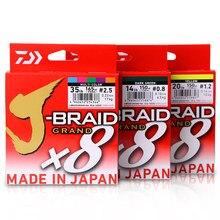 Daiwa original novo J-BRAID grande linha de pesca 135m 150m 8 fios trançado pe linha pesca monofilamento 10-60lb feito no japão