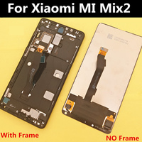 5.99 For Xiaomi MI Mix 2 mix2 LCD Display+Touch Screen+ frame Digitizer Assembly for phone RAM 6GB mix2 LCD Display with frame