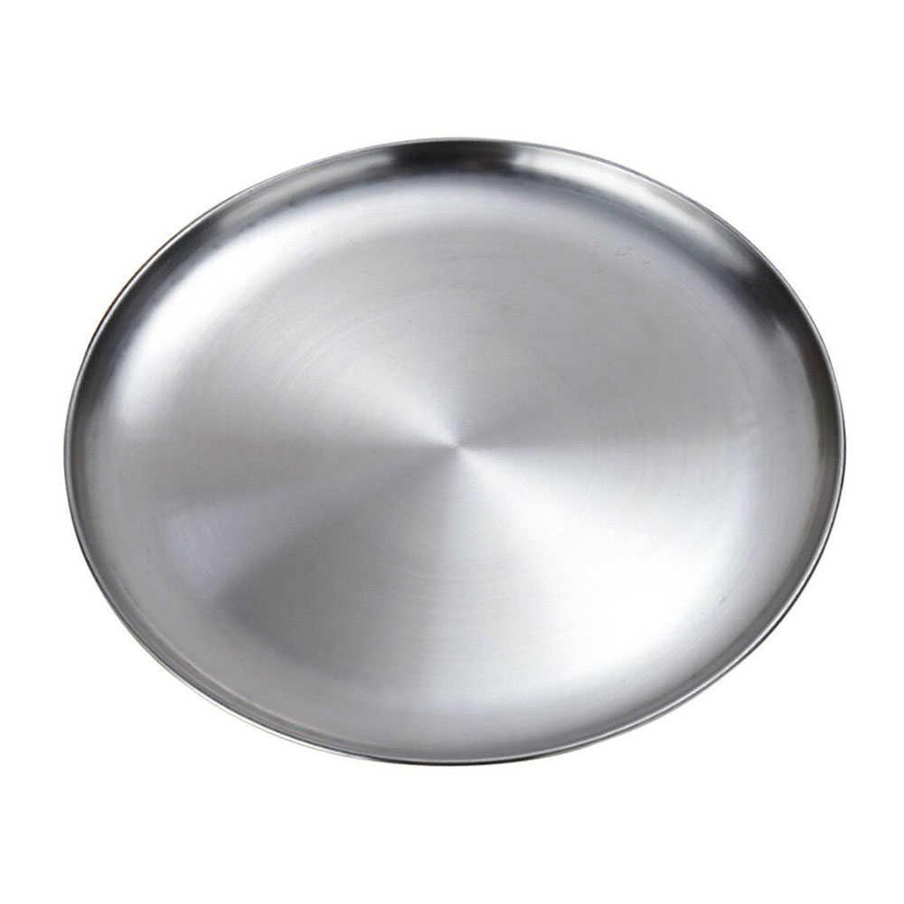 스테인레스 스틸 플랫 접시 접시 절연 바베큐 접시 접시에 대 한 두꺼운 뷔페 플래터 2020 새로운 주방 액세서리