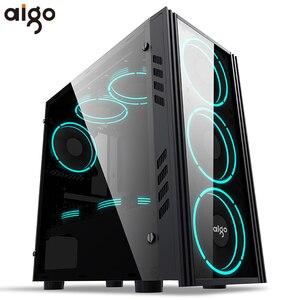 GO-funda de ordenador de escritorio a prueba de polvo para gamer, mini, matx/itx, htpc, chasis, acrílico, para juegos
