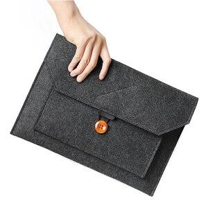 Image 5 - Funda de lana de fieltro para ordenador portátil, funda para Macbook Air Pro, Retina 11, 12, 13, 15, Lenovo, Asus, HP