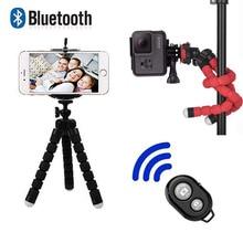 Bluetooth дистанционный Мини Гибкий губка Осьминог штатив для спортивной экшн-видео камеры портативный мобильный телефон подставка для Iphone x Ios