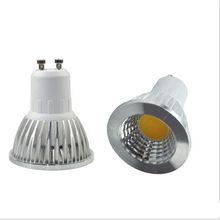 1 pçs super brilhante regulável gu10 cob 7w 10 15 lâmpada led ac110v 220v holofotes branco quente/branco frio iluminação led