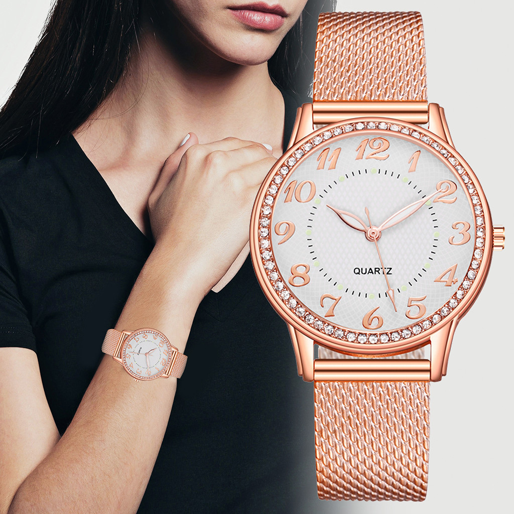 Relogio Feminino Luxury diamond Watches Quartz Watch Stainless Steel Dial Casual Ladies Watch Women Wristwatch Zegarek Damski W3 1