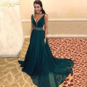 Женское шифоновое платье-трапеция, вечернее платье с изумрудами, v-образным вырезом и v-образным вырезом, вечерние платья для выпускного веч...