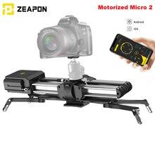 במלאי Zeapon ממונע מיקרו 2 רכבת מחוון נייד אלומיניום סגסוגת עבור DSLR ראי מצלמה w/2easylock 2 נמוך פרופיל הר