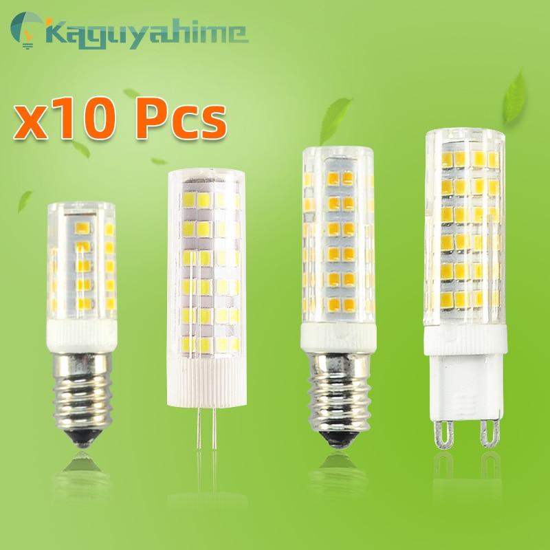 =(K)= 10 шт./лот, светодиодная лампа G9 E14 G4, лампочка с регулируемой яркостью, 3 Вт, 5 Вт, 7 Вт, 9 Вт, 12 В постоянного тока, 220 В переменного тока, светод...