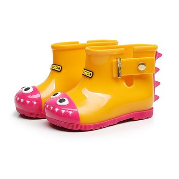 Waterproof Child Rain Boys Girl Rain Boots Anti-slip Children's Jelly Rain Shoes with Lovely Shark Pattern Rain Boots Hot Sale image