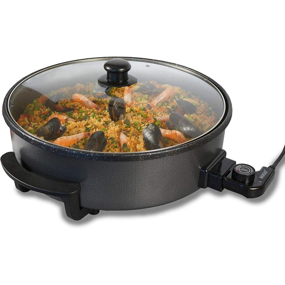 Sogo Multicazuela Electric. Paellera, Skillet Electric For Paella And Pizza, Clad Built House, Base Nonstick