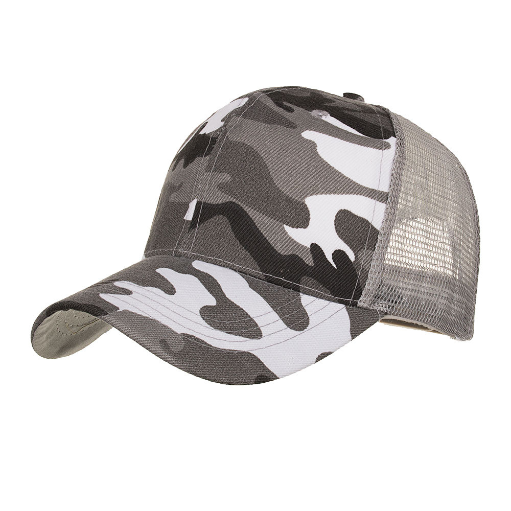 Camo Mesh   Baseball     Cap   Men Camouflage   Caps   Masculino Summer Hat Men Army   Cap   Trucker Snapback Hip Hop Dad Hat #L5