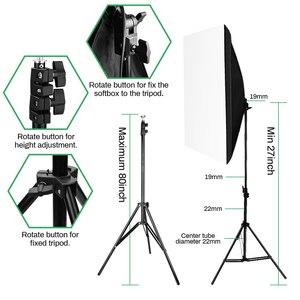 Image 3 - 2pcs 50x70CM 사진 Softbox 스튜디오 연속 조명 키트 135W 전구 사진 스튜디오 초상화 사진 촬영 비디오 촬영