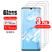 3Pcs 9H Screen Protector Case For Huawei P40 P20 P30 Lite Psmart 2021 Y9 Nova 7SE 5 P20 Pro Protective Tempered Glass Mate 30 20