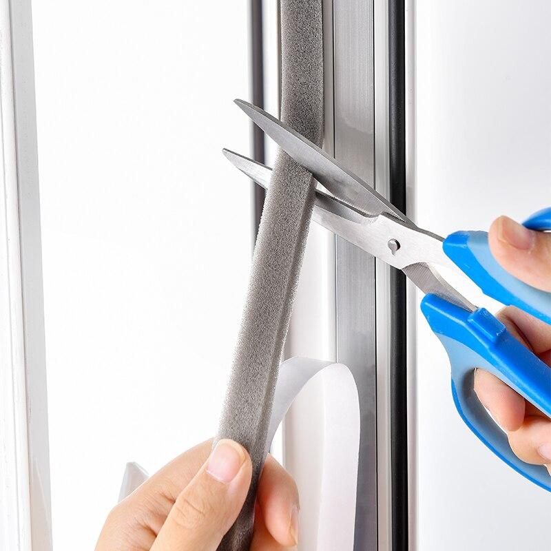 PU Soundproof Foam Weather Stripping Door Seal Strip Self Adhesive Window Insulation Seal Windproof And Dustproof Sealing Strip