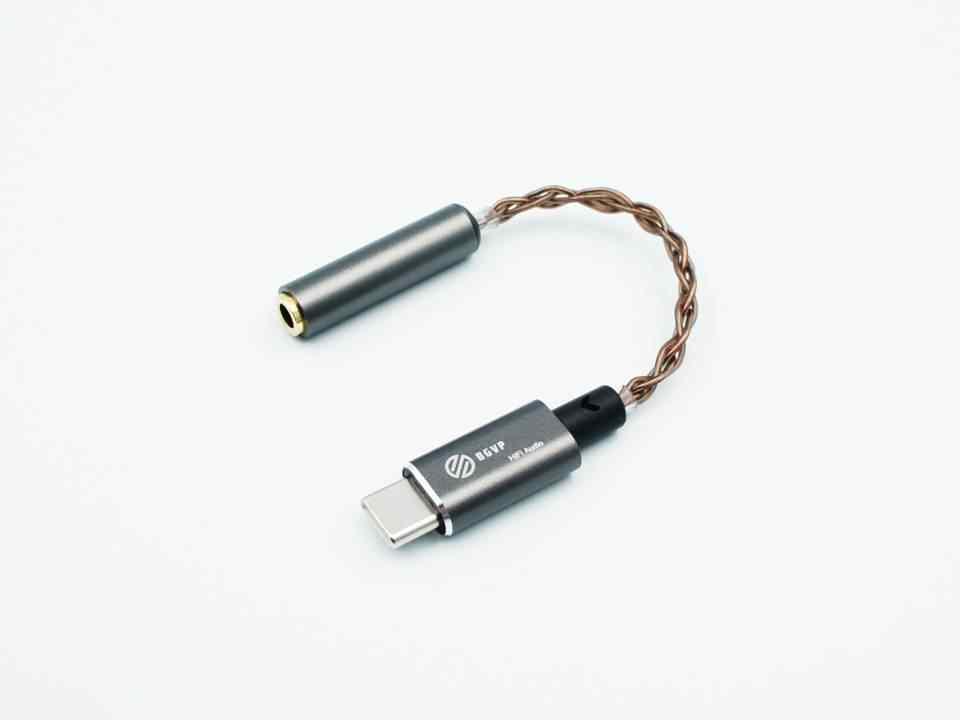 BGVP T01 Type-C إلى 3.5 مللي متر/2.5 مللي متر 32 بت/384 كيلو هرتز DSD64/128 HiFi DAC مضخم ضوت سماعات الأذن