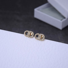 925 silver needle new golden zircon earrings for women summer charms romantic fashion pendientes earings fashion jewelry 2020