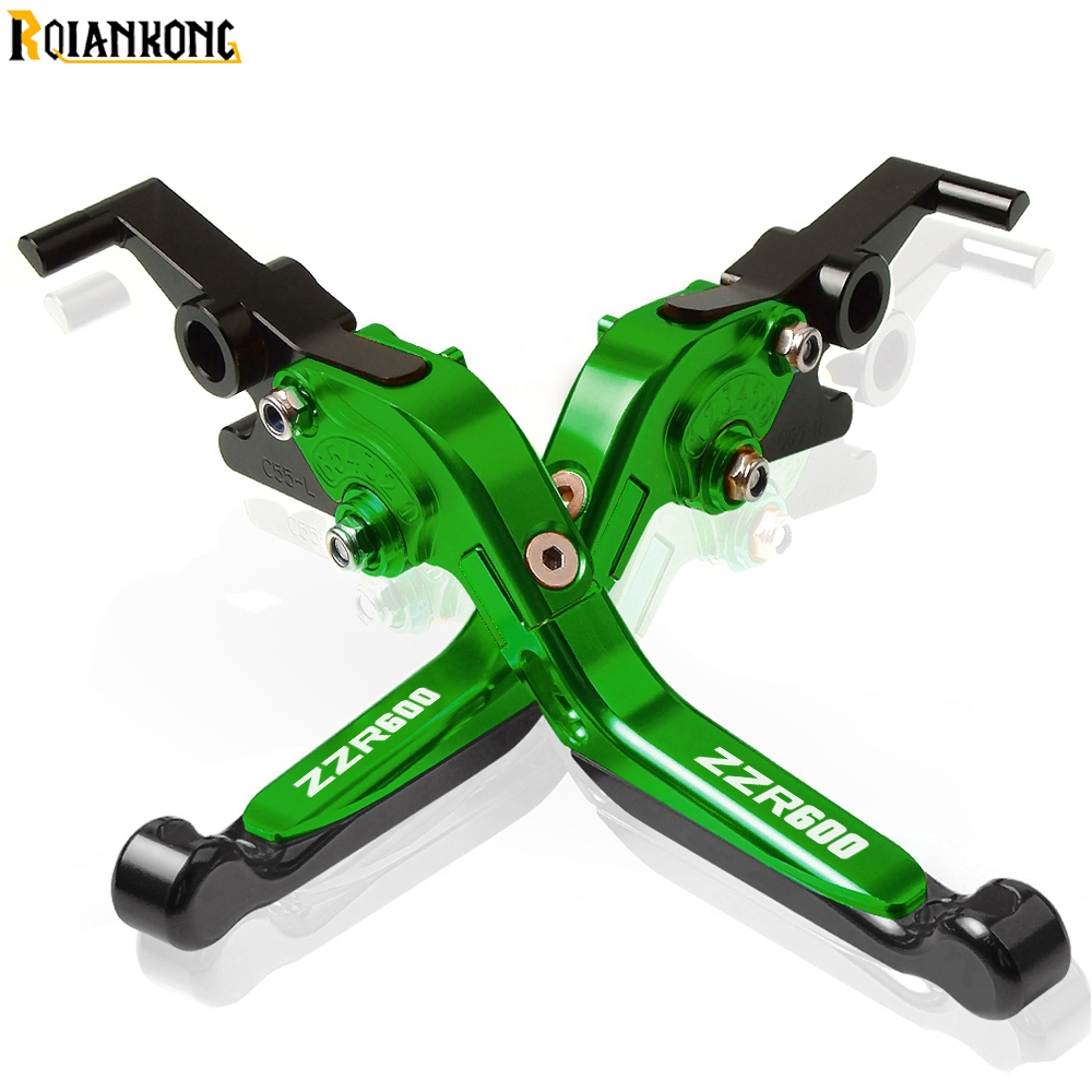 For KAWASAKI ZZR600 ZZ-R600 1990 1991 1992 1993 1994 1995 1996-2014 Motorcycle CNC Adjustable Brake Clutch Levers handle