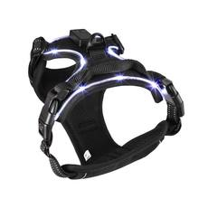 Черный сверхпрочный Мягкий регулируемый светодиодный шейник