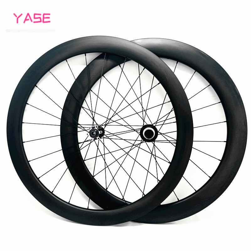 wheel carbon Powerway CX32 Pull straight 50x23mm tubular clincher road wheelset 100x12 142x12 bicycle disc brake wheels 700c
