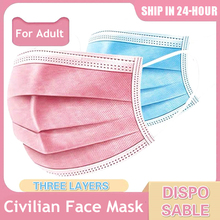 Máscara protetora à prova de poeira descartável de 3 camadas anti bacteriano máscara respirável filtro de proteção de germ máscara boca masker maska
