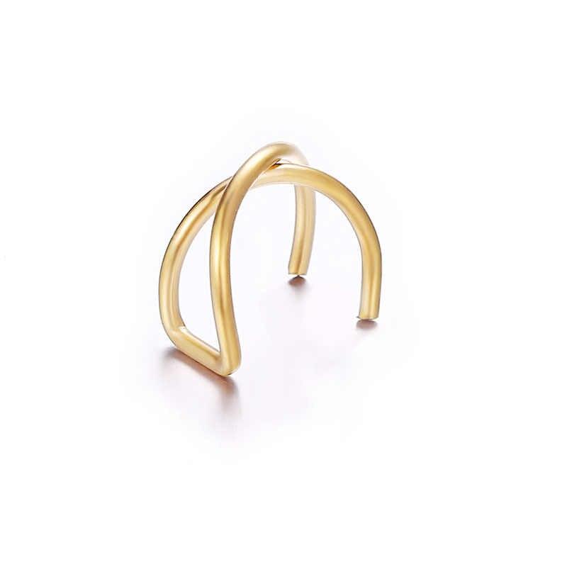 Newest Earring Cartilage U Clip On Earrings No Pierced Earrings Without Ear Piercing Hole Brinco Ear Cuff Earing Leaf Earcuff