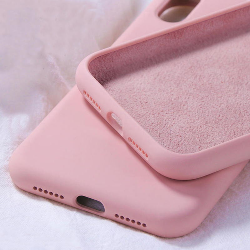 For <font><b>Samsung</b></font> <font><b>Case</b></font> Galaxy S10 S9 S8 <font><b>S7</b></font> S10e A10 A20 A30 A40 A50 A70 Note10 9 8 J4 J6 Plus A6 A7 2018 <font><b>Case</b></font> Solid Color Silicone TPU image