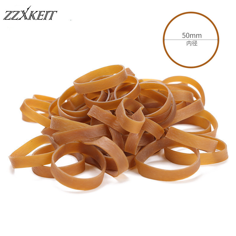 50*10mm Elastic Rubber Bands Fasteners Used for Office School Stationery Supplies Stretchable Sturdy Rubber Elastics Bands