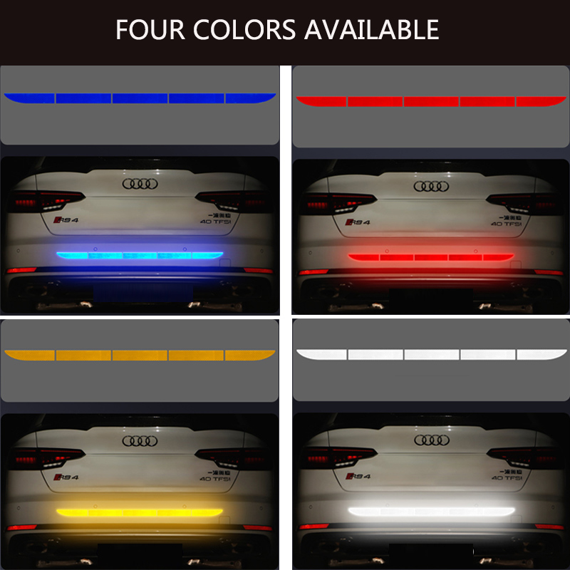 Reflective Tape Sticker Exterior Warning Strip Reflect Tape Traceless Protective Car Stickers Trunk Body Auto Accessories Car