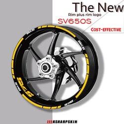 Motorcycle Wheel Rims Reflective Stickers Tire logo Decals moto decorative Accessories set For SUZUKI SV650S sv 650s sv650 s