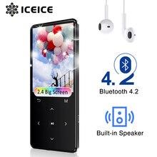 "MP3 נגן עם Bluetooth FM רדיו רמקול אוזניות מגע מפתחות 2.4 ""מסך HiFi ווקמן ספורט MP 3 Flac מוסיקה נגן לילדים"