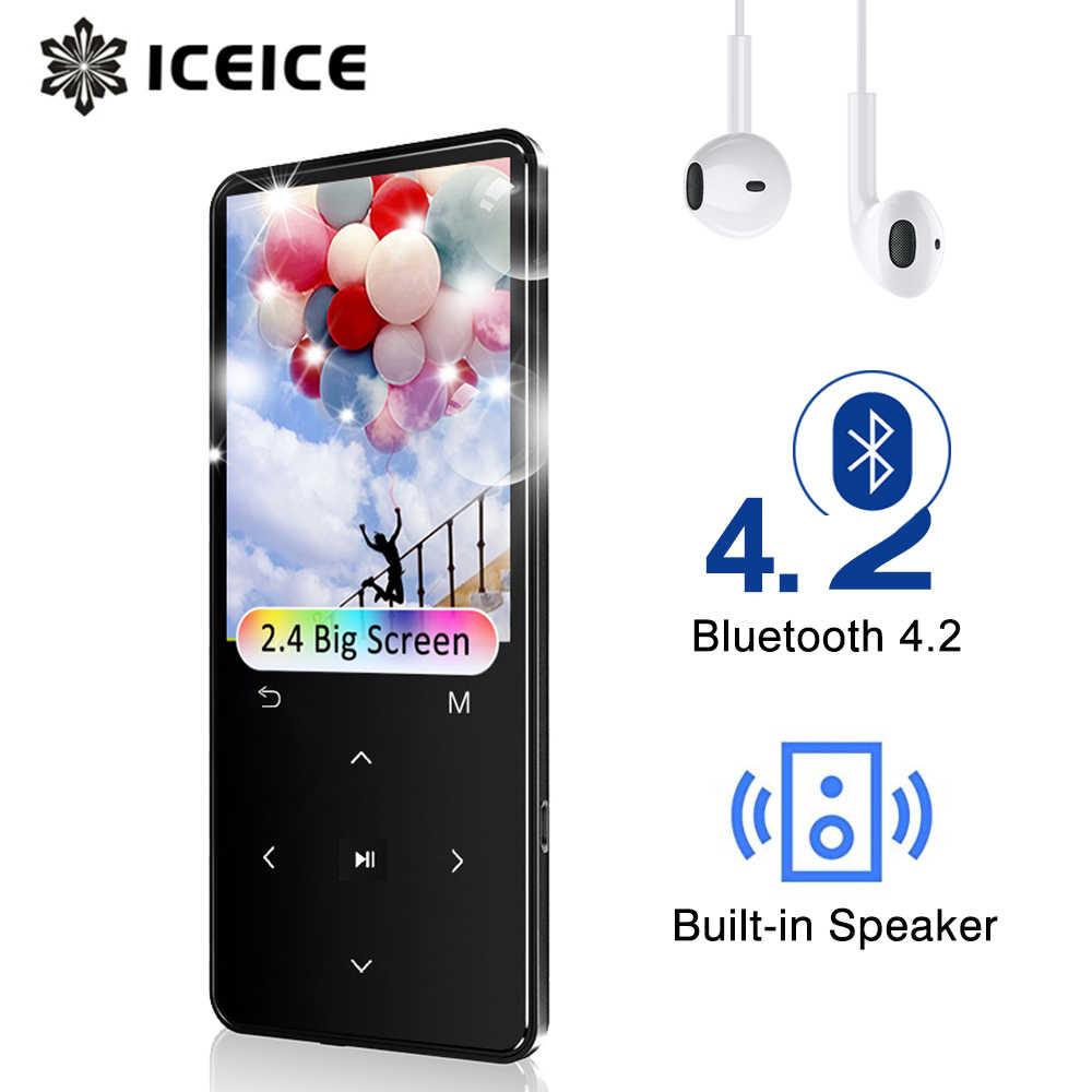"""MP3 Bluetooth の Fm ラジオスピーカーヘッドフォンタッチキー 2.4 """"画面ハイファイウォークマンスポーツ MP 3 Flac の音楽プレーヤー子供のための"""