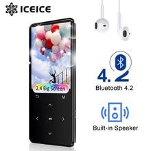 """MP3 avec Bluetooth FM Radio Haut Parleur Casque Touches Tactiles 2.4 """"Écran HiFi Walkman Sport MP 3 Flac Lecteur de Musique pour les enfants"""