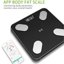 Bluetooth escalas piso cuerpo eléctrico inteligente peso Digital de salud equilibrio escala LCD de visualización electrónica escala de peso Dropshipping. Exclusivo.