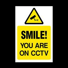 Smile you are on CCTV Plastic Sign - Security, Camera, Closed Circuit TV, Warning Safety