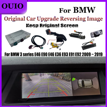 HD Track Rear Camera| For BMW 3 series E46 E90 E46 E36 E93 E91 E92 2009 ~ 2019 Original Screen Upgrade Reversing Camera Module image