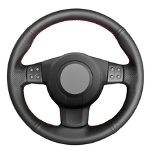 Black PU Faux Leather DIY Hand stitched Car Steering Wheel Cover for Seat Leon (Mk2) 2006 2008 Ibiza (6L) 2007