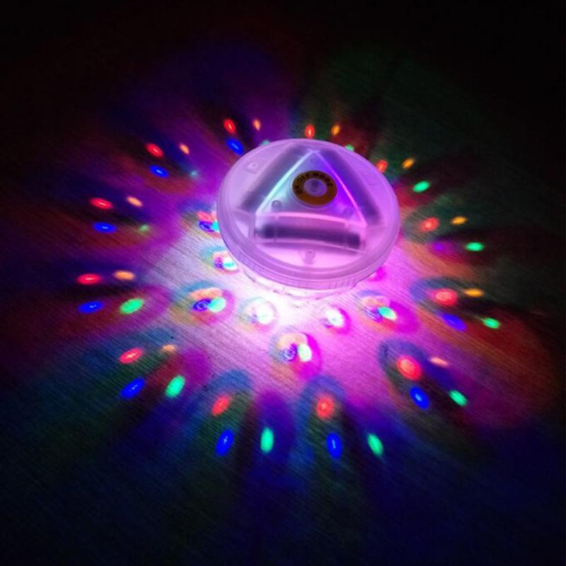 Colorido flutuante diamante luz subaquática rgb submersível