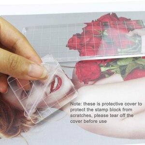 Image 5 - 6 قطعة Acrylic بها بنفسك الاكريليك واضح ختم قواعد حاملة مقبض ختم ألبوم صور ديكور أدوات دمغ الأساسية لصنع الحرف سكرابوكينغ