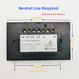 Image 3 - Wifiスマートライトスイッチガラススクリーンタッチパネル音声制御ワイヤレス壁スイッチリモートalexaとgoogleホーム1/2/3/4ギャング