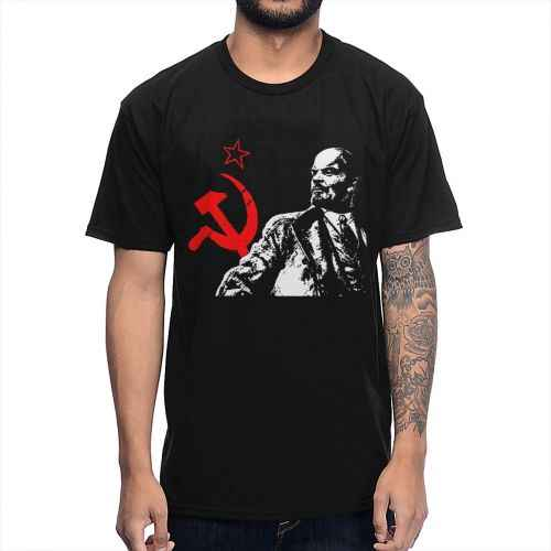 Urss Rosso Unione Sovietica Comunista Lenin T Camicia Maschile Streetwear Manica Corta In Cotone Grande Formato Homme Tee Shirt