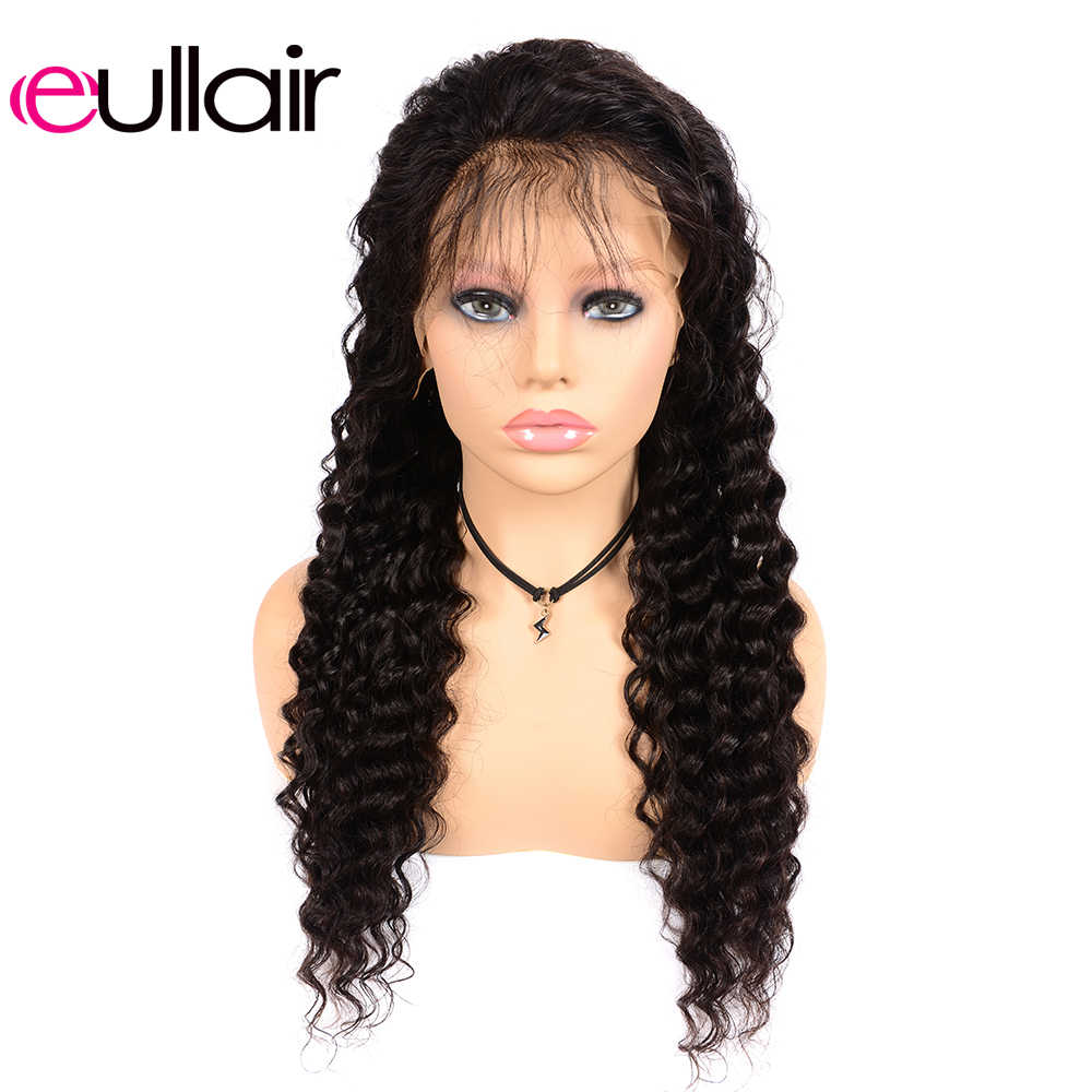 eullair Brazilian Deep Wave Lace Front Wigs 8-24 Inches 13X4 Remy Human Hair Lace Wigs Pre Plucked with Baby Hair 150% Density